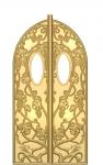 E01 Царские врата с виноградом