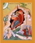 ПР12 Икона печатная Рождество Христово