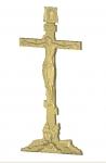 Голгофа резная Вариант 2 c надписями и черепом