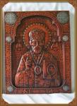 Резная икона Николай Чудотворец Вариант 1