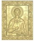 Резная икона Дмитрия Донского Вариант 1