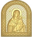 Резная икона Божией Матери «Неувядаемый Цвет»