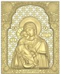 Резная икона Владимирская Божья Матерь Вариант2