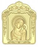 Резная икона Казанская Божия Матерь Вариант2