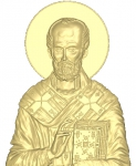 Резная икона Николай Чудотворец Вариант 5