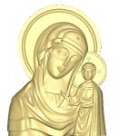 Резная икона Казанская Божия Матерь Вариант3