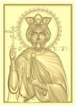 Резная икона Святой царь Константин