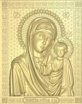Резная икона Казанская Божия Матерь Вариант4