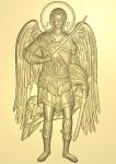 Резная икона Архангел Михаил Вариант 2