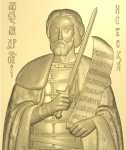 Икона резная Святой князь Александр Невский