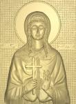 Резная икона Святая Варвара - покровительница