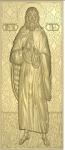 Резная икона Илья Пророк мерная