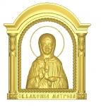 Резная икона Матрона Московская Вариант 4