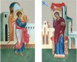 Царские врата 2 иконы Вариант 2