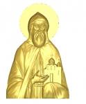 tk284 Даниила Московского икона резная